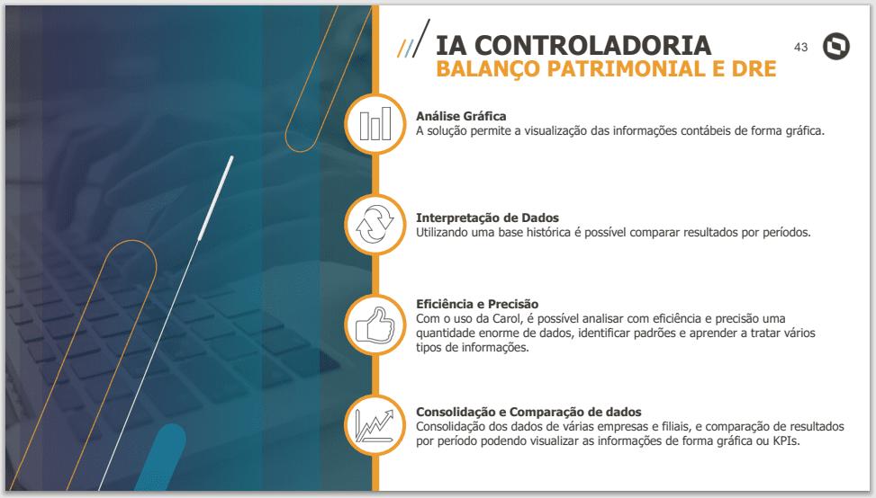 IA Controladoria - Balanço patrimonial e DRE