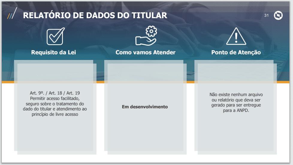 Relatório de dados do titular TOTVS