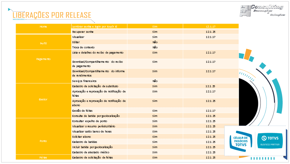 Releases MEU HFCONSULTING TOTVS PERDIZES